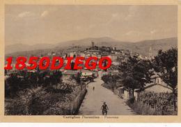 CASTIGLION FIORENTINO - PANORAMA F/GRANDE VIAGGIATA 1948 ANIMAZIONE - Arezzo