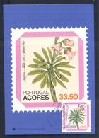 Portugal Azores 1982 Maximum Card: Flora Flowers Blume; Azorina Vidalli Flowering Plant - Pflanzen Und Botanik