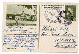 1955 YUGOSLAVIA, SERBIA, ZRENJANIN, 10 DINARA, TITO, POSTAL STATIONERY, USED - Serbia