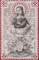 Devotieprentje Image Pieuse Canivet Santini Dentellée En Dentelles Met Kant Maison Basset Marie Virgin Mary Saint - Imágenes Religiosas