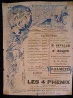Tours Programme Novembre 1896 Le Nouvel Alcazar Illustration Emile Vernon KX - Programmes