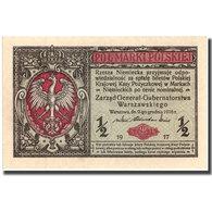 Billet, Pologne, 1/2 Marki, 1917, 1917, KM:1, NEUF - Pologne
