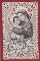 Devotieprentje Image Pieuse Canivet Santini Dentellée En Dentelles Met Kant Maison Breval Virgin Mary Baby Jesus Marie - Images Religieuses