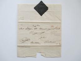 AD / Vorphila 1835 Judenburg Schwarzes Papiersiegel!! Exoffo Mit Taxvermerk! Interessanter Beleg! - Österreich