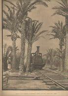 LAMINA 13352: Llegada De La Primera Locomotora A Elche, Alicante - Sin Clasificación