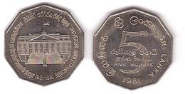 Sri Lanka - 5 Rupees 1981 AUNC Comm. Lemberg-Zp - Sri Lanka