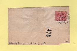 Type Semeuse - 10c Seul Sur Bande 2e Echelon Destination Alsace (etranger) - Paris Journaux PP25 - 30 Sept 1904 - Marcofilie (Brieven)