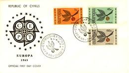CIPRO - 1965 - FDC - Europa - Ramo Con Tre Foglie E Lettere CEPT. - Cipro (Repubblica)