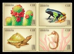 United Nations (Vienna) 2018 Mih. 1010/13 Flora And Fauna. Endangered Species. Hoodia. Mantella. Turtle. Seahorse MNH ** - Wien - Internationales Zentrum