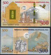 ARMENIA P60 500 Dram 2017 Commemorative Noah's Arch UNC - Armenia