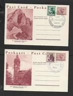 S.Africa,  KRUGER NATIONAL PARK SKUKUZA1 IV 64,  ELEPHANT PARK ADDO 1 IV 64 ON  1 1/2c Postal Cards, - Storia Postale