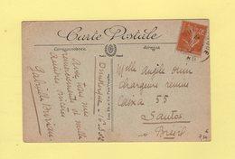 Type Semeuse - 30c Sur Carte Postale Destination Bresil - 16-3-1922 - Dunkerque - 1921-1960: Periodo Moderno