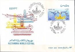 Egypte - 1992 - Enveloppe 1e Jour - Festival Des Villes Du Monde Nommées ALEXANDRIE - Y&T AM#213 - Égypte