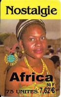 -CARTE-PREPAYEE-EAGLE TELECOM-50F-7.62€-F-N OSTALG IE-AFRICA-FEMME- GRATTEE-31/10/2004-TBE- - France