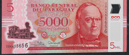 PARAGUAY P234 5000 Guaranies 2017 Issued 2018 Prefix I Polymer UNC - Paraguay