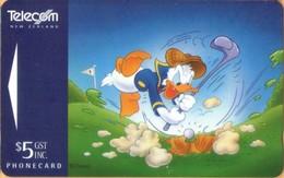 New Zealand - NZ--A-154, GPT, Advertising Cards, Donald Duck, Golf, Cartoons Disney, 11,850ex, 1995, Mint - Neuseeland