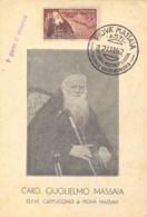Italia 1952 Maximum Card FDC Centenario Delle Missioni In Etiopia Del Cardinale Guglielmo Massaia - Cristianesimo