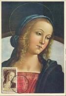 Italia 1954 Maximum Card FDC Anno Mariano - Cristianesimo