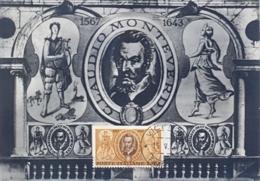 Italia 1967 Maximum Card FDC 400° Anniversario Della Nascita Del Musicista Claudio Monteverdi - Musica