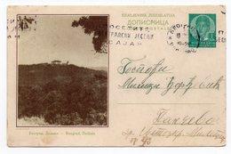 YUGOSLAVIA, SERBIA, BEOGRAD, DEDINJE, ROYAL WHITE PALACE, 1938, 1 DINAR GREEN, USED, POSTAL STATIONERY - Serbia