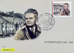 Italia 2018 Maximum Card FDC 50° Anniversario Della Morte Di Vittorio Pozzo Annullo Di Ponderano - Calcio