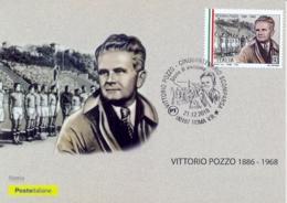 Italia 2018 Maximum Card FDC 50° Anniversario Della Morte Di Vittorio Pozzo Annullo Di Roma - Calcio