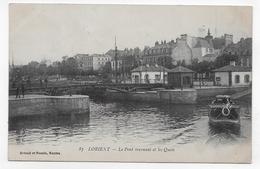 (RECTO / VERSO) LORIENT EN 1917 - N° 87 - LE PONT TOURNANT ET LES QUAIS AVEC BATEAU - CPA VOYAGEE - Lorient