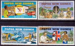 PAPUA NEW GUINEA 1980 SG #380-83 Compl.set Used Admission To UPU - Papua New Guinea