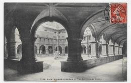 (RECTO / VERSO) SAINT ANNE D' AURAY EN 1908 - N° 2152 - VUE INTERIEURE DU CLOITRE ANIMEE - BEAU CACHET - CPA VOYAGEE - Lorient