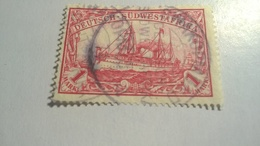 German South West Africa, Yacht Hohenzollern 1906 -1919 As Previous Edition - Watermarked - Colony: German South West Africa