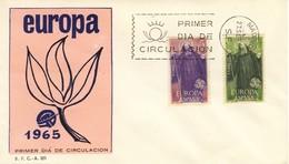 FDC FIRST DAY COVER 27-9-1965 SPAGNA EUROPA CORREIO DE ESPAGNE. - FDC
