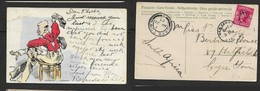 "M2M Spanking, Autochrom Series, Artist ""Myer"", Used 1907, NEW YORK >CAPETOWN - Comics"