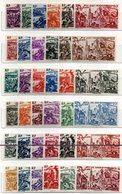 BIG - TCHAD Au RHIN 1946, 12  Serie Complete Del Giro (72 Valori) * Linguellato (2380A) - 1946 Tchad Au Rhin