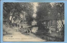 Houlgate (14) Un Coin Du Drochon 2 Scans 08-12-1917 Carte Animée 4 Personnages (Camp Des Prisonniers De Guerre Dives) - Houlgate