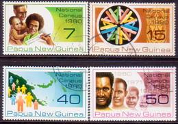 PAPUA NEW GUINEA 1980 SG #389-92 Compl.set Used National Census - Papua New Guinea