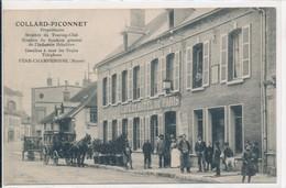 Fère Champenoise (51 Marne) Collard Piconnet - Café Hôtel De Paris Membre Du Touring Club - Omnibus (stationné Devant) - Fère-Champenoise