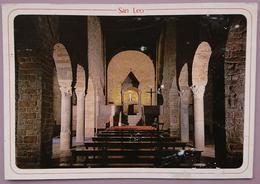 SAN LEO (Rimini - Già Pesaro) - L'interno Della Pieve Romanica - CHRISTIANITY - Vg - Rimini