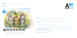"2019-024 Russia Cover ""A"" FAUNA: Siberian Cats - 1992-.... Fédération"