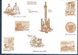 France Épreuve De Luxe - France Capitale Européennes - Meilleurs Vœux -  2003 - Luxusentwürfe