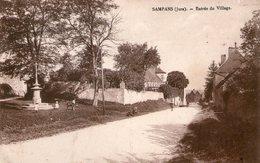 (Jura)  CPA  Sampans Entrée Du Village  ( Bon Etat) - France