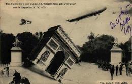 Guerre 1914-1918 - Carte Surréaliste - Enlévement De L'Arc De Triomphe Par Le Zeppelin K.K.100 - Oorlog 1914-18