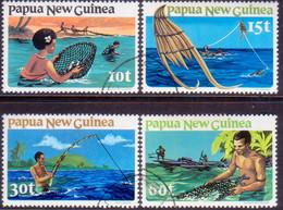 PAPUA NEW GUINEA 1981 SG #417-20 Compl.set Used Fishing - Papua New Guinea