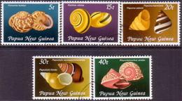 PAPUA NEW GUINEA 1981 SG #421-25 Compl.set Used Land Snail Shella - Papua New Guinea
