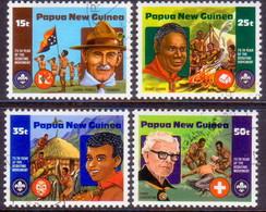 PAPUA NEW GUINEA 1982 SG #426-29 Compl.set Used Boy Scout Movement - Papua New Guinea