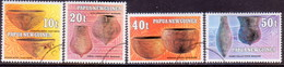 PAPUA NEW GUINEA 1982 SG #430-33 Compl.set Used Native Pottery - Papua New Guinea