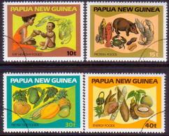 PAPUA NEW GUINEA 1982 SG #434-37 Compl.set Used Food And Nutrition - Papua New Guinea