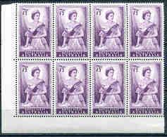 AUSTRALIA 1954, Royal Visit 7.5 D, Block Of 8, SG 273 MNH (**) - 1952-65 Elizabeth II: Dezimalausgaben (Vorläufer)