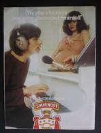 SMIRNOFF VODKA.  ORIGINAL 1974 MAGAZINE ADVERT - Sonstige