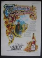 GOLDENER OKTOBER WINE   ORIGINAL 1974 MAGAZINE ADVERT - Sonstige