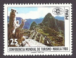 Peru 1980 - World Tourism Conference (Manila 1980), Tourisme, Fauna, Faune, Lama, Machu Picchu, Mountains MNH - Peru